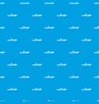 motor speed boat pattern seamless blue vector image