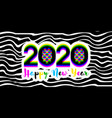numbers 2020 with stereoscopic effect vector image vector image