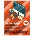 online casino color isometric poster vector image vector image