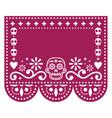 papel picado template design with sugar skulls vector image