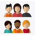 People design Avatar icon White background vector image vector image