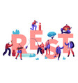 people hobat spare time concept characters vector image vector image