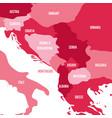 political map of balkans - states of balkan vector image