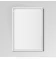 Realistic White vertical frame for paintings vector image vector image