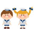 sailor boy and girl vector image vector image