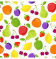seamless pattern colorful fruits vector image vector image