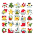 set flat icons for christmas and new vector image vector image