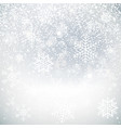 snowflakes on beautiful background winter vector image vector image