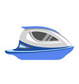speedboad yacht or sea cruise sailboat flat vector image vector image