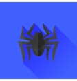 Spider Grey Silhouette Long Shadow vector image vector image