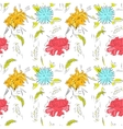 Spring flowers pattern vector image vector image