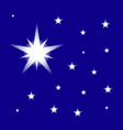 starry night sky isolated on blue background vector image