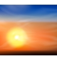 Sunrise or sunset vector image vector image