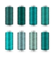 Thread Spool Set Bright Plastic Bobbin Isolated
