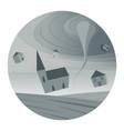 tornado round icon vector image vector image