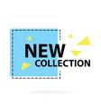 trendy modern geometric sale badge labels vector image vector image