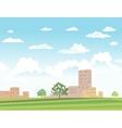 urban landscape vector image vector image