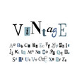 vintage - alphabet vector image vector image
