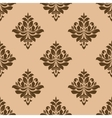 Vintage wallpaper design of floral arabesques vector image