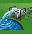 water pump power generator vector image vector image