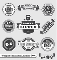Weight lifting labels vector | Price: 1 Credit (USD $1)