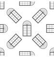 window icon seamless pattern on white background vector image vector image