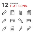 writing icons vector image vector image