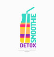 a smoothie detox with a vector image