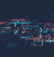 abstract background with binary code analysis vector image vector image