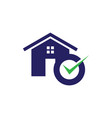 accept home icon vector image vector image