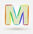 Alphabet letter M Watercolor paint design element vector image vector image