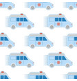 ambulance first aid car pattern seamless repeat in vector image