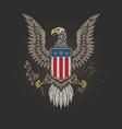 american veteran emblem tees graphic vector image vector image