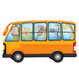 Animals and school bus vector image vector image