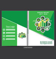 annual report cover design vector image