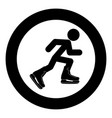 athlete skater in skating icon black color simple vector image vector image