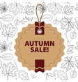 Autumn discounts and sale vector image vector image