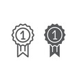 award line and glyph icon badge and prize medal vector image vector image