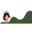 banner flamenco woman beautiful spanish girl vector image vector image