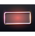 Bar Advertising Retro Glowing Neon Frame Template vector image vector image
