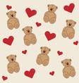 bear cartoon background vector image