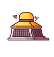 beekeeper apiarist hat icon vector image