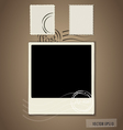 Blank grunge post stamps and photo frame vector image