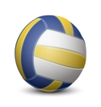 Blue and yellow volleyball ball vector image vector image