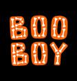 boo boy halloween lettering vector image