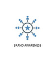 brand awareness concept 2 colored icon simple vector image vector image