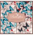 Butterflies seamless set vector image