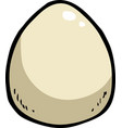 cartoon doodle egg vector image vector image