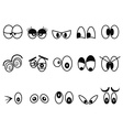 cartoon Expressional eyes icon set vector image vector image