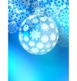 Christmas ball on abstract light EPS10 vector image
